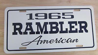 1965 Rambler Americian LICENSE PLATE TAG 65 220 330 440 550 343 V8  660 770 880