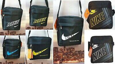 Swoosh Nike Logo Adidas Men's Cross body Messenger Shoulder Bag Free P&P in UK