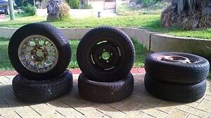 13 inch rims and tyres all 4 stud Two Rocks Wanneroo Area Preview