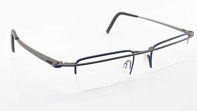 THEO BELGIUM Brille Friet 222 Half Rim Designer Eye Frame Brown Blue Unisex 2012