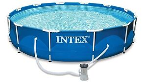 Intex 12 ft swimming pool with cover Mansfield Park Port Adelaide Area Preview