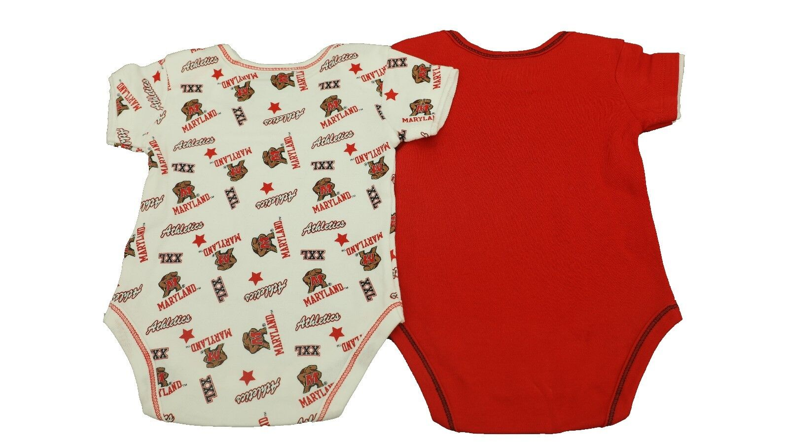 1552723c4 Maryland Terrapins Official NCAA Baby Infant Size 2 Piece Creeper Set New  Tags