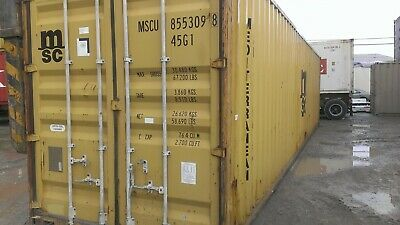 Used 40 Dry Van Steel Storage Container Shipping Cargo Conex Seabox Memphis