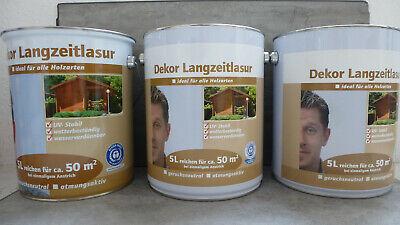 € 3,39 L / 5 L Holzlasur Dekor Langzeitlasur f.alle Hölzer innen/außen Farbwahl
