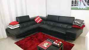 MODULAR LOUNGE WITH RHF CHAISE (BONDED LEATHER) Madeley Wanneroo Area Preview