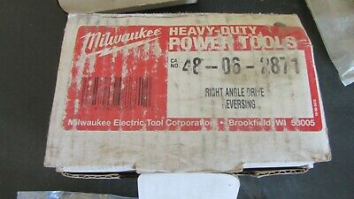 Milwaukee 48-06-2871 Right Angle Drive Reversing Nos
