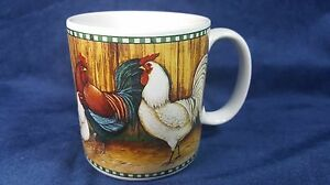 Rooster On The Farm David Carter Collection Coffee Mug (s) SAKURA Checkered Hen