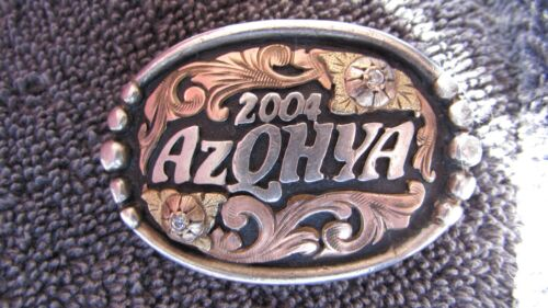 2004 STERLING SILVER AZQHYA ARIZONA QUARTER HORSE YOUTH BADGE BY HYO SILVER CO.