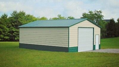 Steel Metal Workshop Garage Utility Shed Building Barn 24 X 31 X 10