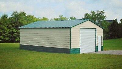 Steel Metal Workshop Garage Utility Shed Building Barn 24 X 31 X 10