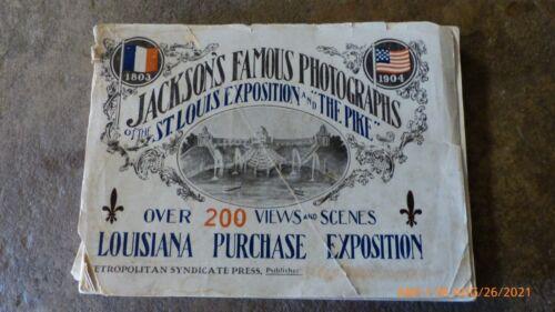ANTIQUE 1904 BOOK JACKSONS FAMOUS PHOTOGRAPHS LOUISIANA PURCHASE EXPO ST. LOUIS