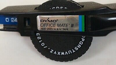 Vintage Dymo Office Mate Ii Embossing Label Maker 1540 Uses 38 12 Tape