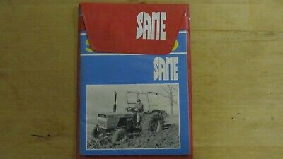 Original Operators Manual Same Saturno 80 Tractor In Cover