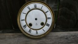 antique gustav becker porcelain wall clock dial