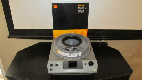 Kodak Ektagraphic III A 35mm Slide Projector w/ Remote, Tray