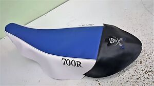 YAMAHA RAPTOR 700 700R   seat cover outlaw logo wht /  blk / blue