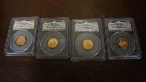 2009-S  PCGS PR69RD DCAM Coin Lincoln Cent Bicentennial Set 4 coins slabbed pcgs