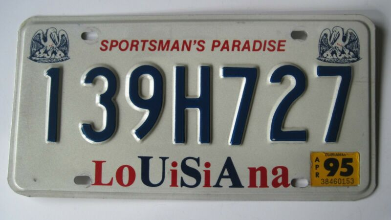 1995 Louisiana license plate.