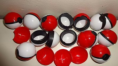 12 Piece Empty Pokeballs  Pokemon Balls  - Party Favors - Cake Topper - Birthday