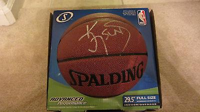 868529099163 KEVIN JOHNSON NBA SIGNED SPALDING FULL SIZE BASKETBALL SACRAMENTO MAYOR