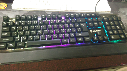 Nubwo gaming keyboard rgb backlight