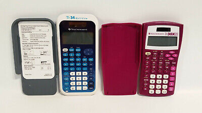 Texas Instruments Lot of 2 Calculators TI-30XIIS TI-34 Tested and Working