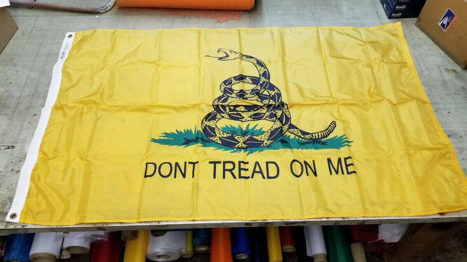 3x5 Nylon Gadsden - Don't Tread On Me - Snake Flag Banner -