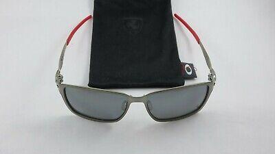 Oakley Tincan Ferrari Black Chrome Black Iridium Polarized OO4082-09 NEW RARE