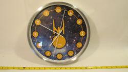 Geekcook 12in Star Trek Brushed Steel Rim Clock U.S.S Enterprise NCC-1701