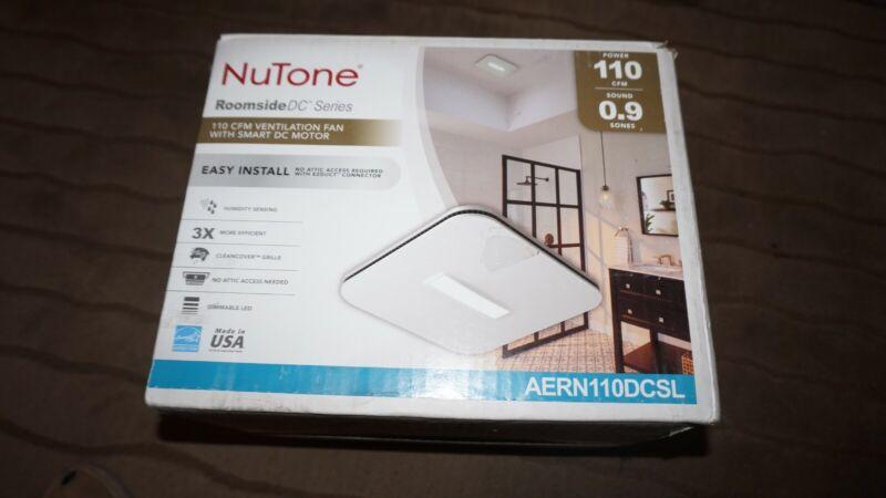 NuTone Roomside DC AERN110DCSL 110 CFM Humidity Sensing Ventilation Fan Light