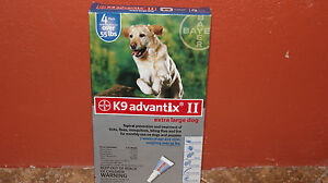 K9 Advantix II for Dogs over 55 lbs 4 Pack 4 months supply