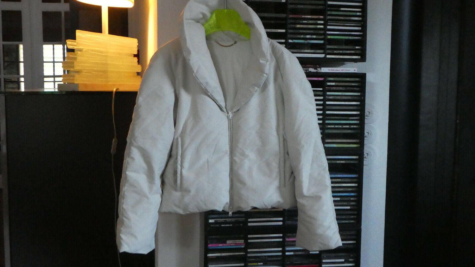 Blumarine moncler superbe manteau doudoune veste déperlante blc grisé 38 m com9