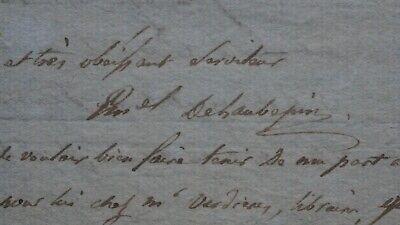 EMMANUEL DE LAUBEPIN-SAVANT&TRADUCTEUR-LETTRE1 MANUSCRITES ANNEES 1813