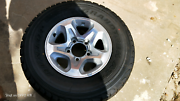Genuine Set of 5 landcruiser wheels and tyres 70 76 78 79 series Raby Campbelltown Area Preview