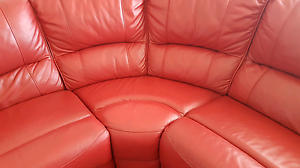 L shape leather lounge suite for sale Plympton West Torrens Area Preview