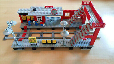 LEGO Train Set 7822 Railway Station Town City + Stickers 100% complete