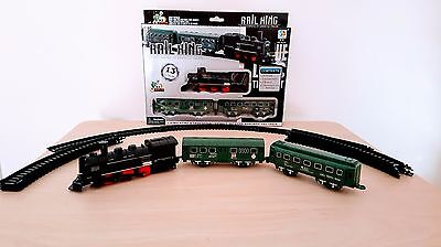 Lot Of 5 Set Kids Children Rail King Classic Locomotive Train Set