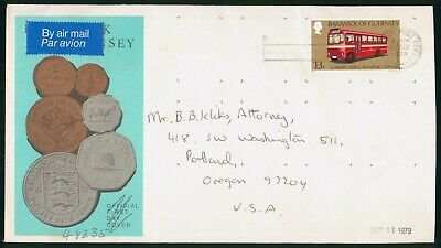 Mayfairstamps Guernsey 1979 Coins Bus Cover wwo_58931