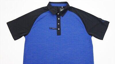 New Puma Golf Polo Mens Size Medium Blue/White 290A  Shirt Clothing