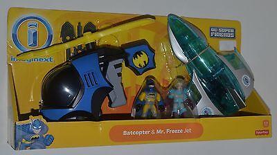 BATCOPTER w BATMAN & MR. FREEZE w JET Set Imaginext DC Super Friends Rare!