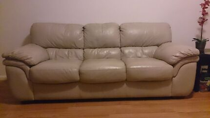 Leather sofa 3seater $450, 2seater $350, and $200 armchair Botany Botany Bay Area Preview