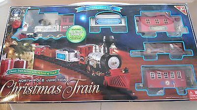 Blue Hat North Pole Junction 35 pc Christmas Train Set