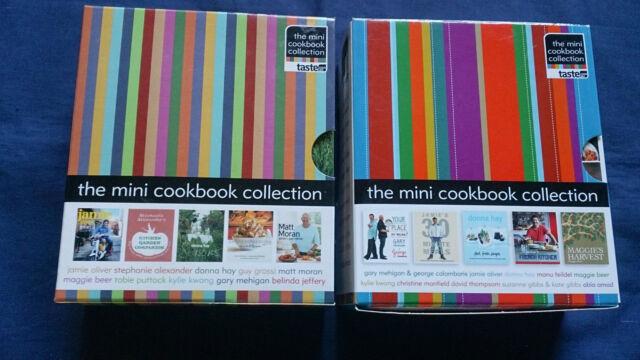 MINI COOKBOOK COLLECTION BOX SET 1 & 2 Donna Hay Jamie Oliver Kylie Maggie Beer