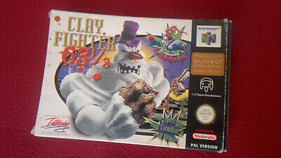 Clay Fighter 63 1/3 Nintendo 64 N64 PAL console game