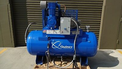 Used, Quincy Reciprocating Air Compressor - 10 HP, 200/208 Volt 3 Phase for sale  Long Beach