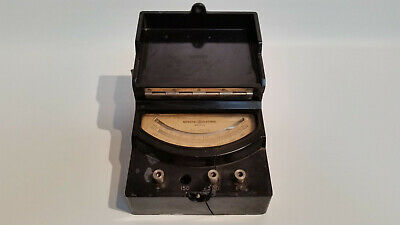 Vtg General Electric 8ap9vbh11 Ac Volts Meter 150-600 Volt Type Ap-9 Bakelite