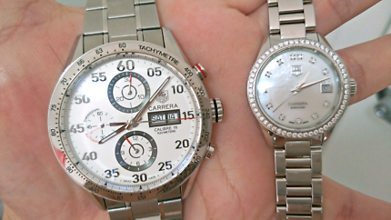 TAG HEUER HIS + HER MATCHING WATCHES