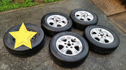 holden commodore csa alloy wheels 15 inch with tyres Toronto Lake Macquarie Area Preview