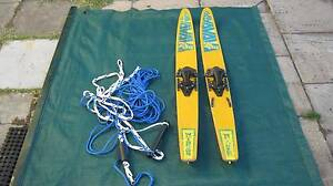 WATER SKIS    WITH    NEW  SKI ROPE BRIDAL Wembley Cambridge Area Preview