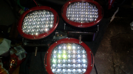 3x 9 inch driving lights